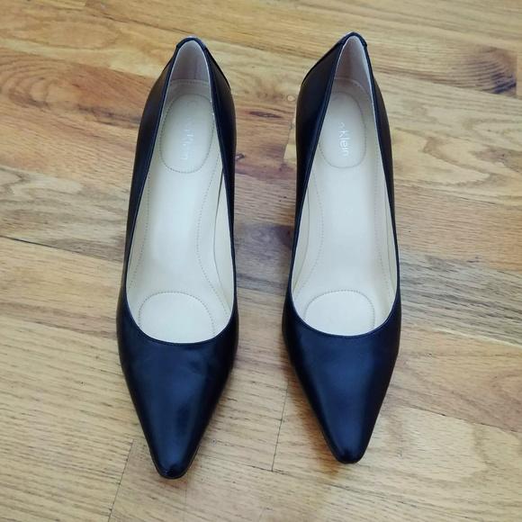 c079ff9425a Calvin Klein Shoes - Calvin Klein Dolly Leather Pump